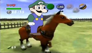 Weegee ride epona xD by Ryuunake98