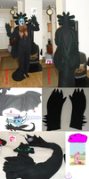 Evelyn's Toothless Costume by BlueEvelyn