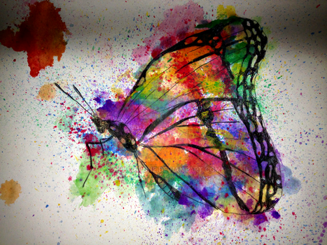 Rainbow Butterfly by hievreyone