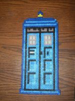 Perler Bead Tardis by blargofdoom