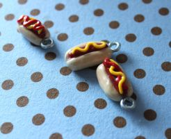 Hot dog charms by rainboww-horror