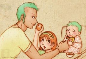 Zoro - Stay-at-home dad 01 by CappuccinoBird