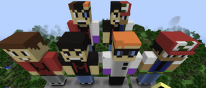 Minecraft Statues by AMASTA10