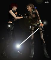 Lara have enough of DG remake by Hiddenus