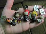 Kingdom Hearts phone charms by WanNyan