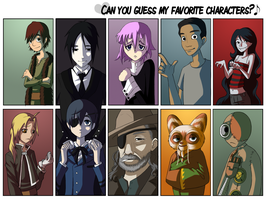 favorite characterz by RedDestiny