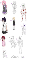 (CLOSED) Free Adoptables: Old Drawings by Acetylace-Adopts