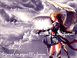 Angel Warrior RPG Banner by shewolfzoroark