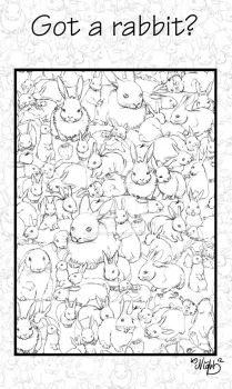 Rabbits, rabbits everywhere! by millenium-night