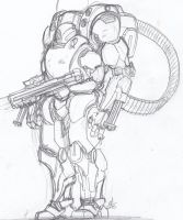 Masamune Shirow Inspired Mecha by ConstantM0tion