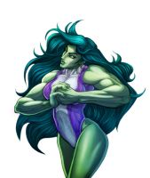 She-Hulk Color by EL-MIL