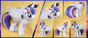 [For Sale] Alicorn Punklight Sparkle Plush by Bendykins