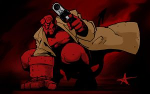 Hellboy, yet again. by Caveatscoti