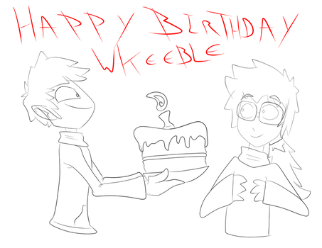 Happy Bithday Wkeeble by TheRizkPiecraft