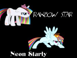 Rainbow Star and Neon Starly by tailinr1lol