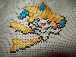 Cross stitching attempt 1 by Mercurykiss