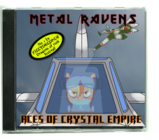Contest Entry:Draw BW|Metal Ravens single CD cover by SPIDIvonMARDER
