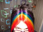 RAINBOW HAIR by Scribbabbles