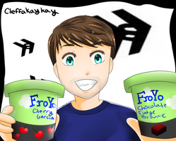 Ian With Froyo by kay-la-la