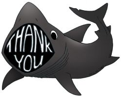 A Basking Shark Thank You by Yohnnilee