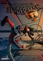 Spider-Man Vs Doctor Octopus by emmshin