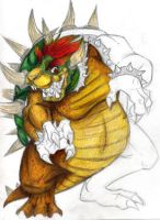 Mario- R. Bowser with colour by darkburraki