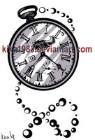 Watch tattoo design-commission by kika1983