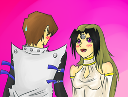 Kaiba and Flare by iScone
