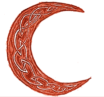 Red Crescent Moon by EmilyRoseForReal