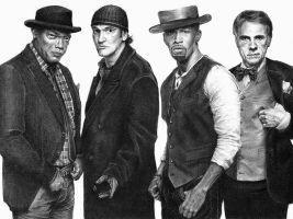 Django Unchained Cast by Fusionofforces
