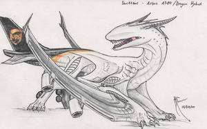 SwiftTail - A380 Aerosaur by Hydrothrax