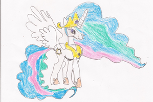 Princess Celestia Drawing by SoraJayhawk77