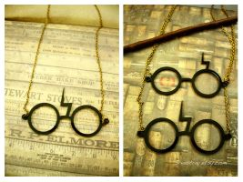 Scar Glasses - Harry Potter by sixAstray