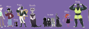 Harmony Hills Main Characters by blinkpen