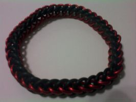 Half Persian Bracelet Red-Blk by Silkyprime