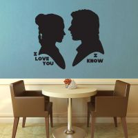 Star Wars - I Love You I Know Silhouette Wall Deca by GeekeryMade