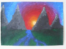 First pointillism by Hogia
