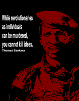 Thomas Sankara Quote Poster by Party9999999