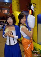 Elizabeth and Chell Cosplay by bunnybearme