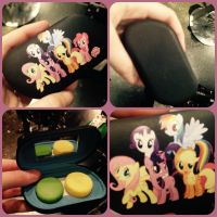 ( MLP ) Mane 6 Contact Lenses Case by KrazyKari