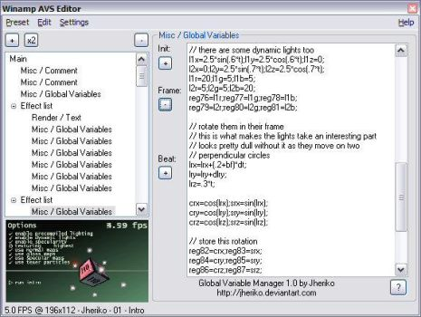Global Variable Manager by jheriko