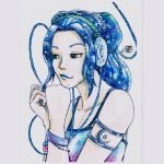 Galaxy Headphones ~BLUE VERSION~ by meriimerodii