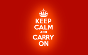 KEEP CALM AND CARRY ON by Ellmer
