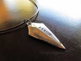 A Hero Will Rise - Arrow Inspired Necklace by thingamajik