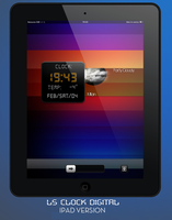 LS ClockDigital iPad by poetic24
