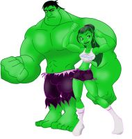she Hulk and Hulk by Tompach