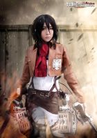 mikasa ackerman from Attack on Titan cosplay by yukigodbless