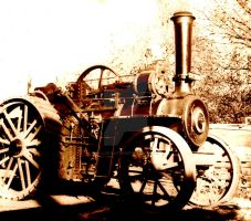 Vintage steam by Nelliehunter
