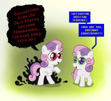 MLP FiM Commission - Thrackerzod and Sweetie Bot by Fadri