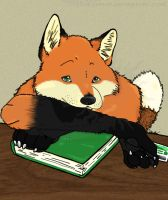 Library Fox by Theosphir